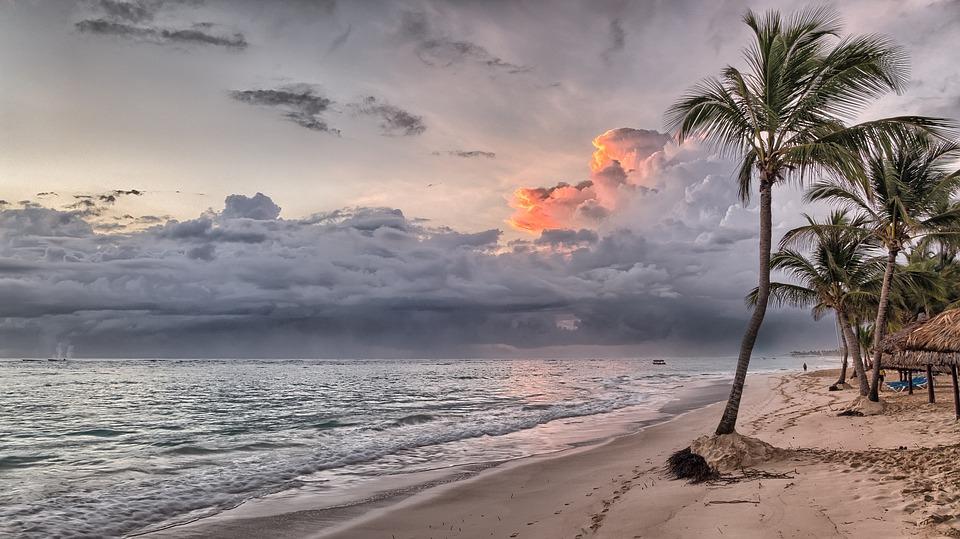 Sol ved strand