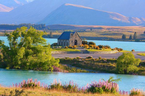 Kirke i natur New Zealand