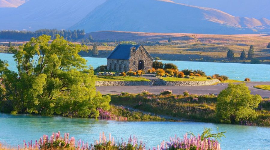 Kirke i natur New Zealand